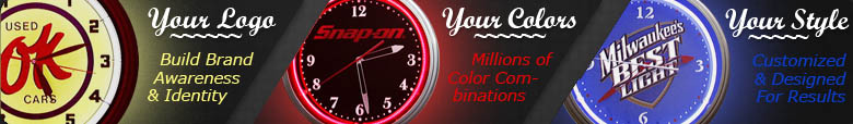 neon clocks with your logo, your colors, your style