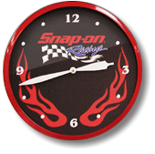 snap-on 14 inch neon clock