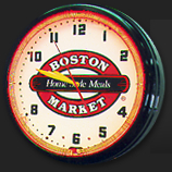 boston marker neon clock