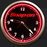 snap-on neon clock